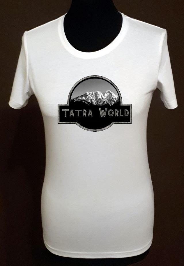"""T-shirt biały z nadrukiem """"Tatra World"""""""